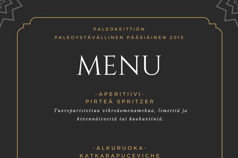 Paleoystävällinen pääsiäismenu | paleokeittio.fi