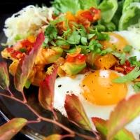 Meksikolainen muna-aamiainen