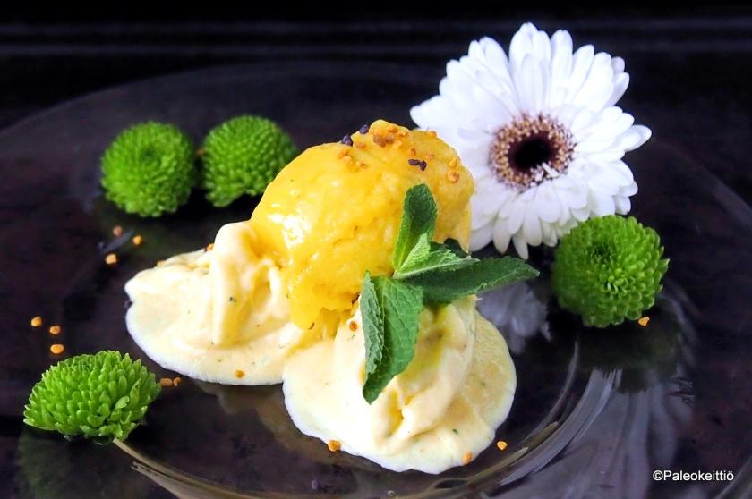 Raikas maidoton mangojäätelö ja -sorbetti | paleokeittio.fi