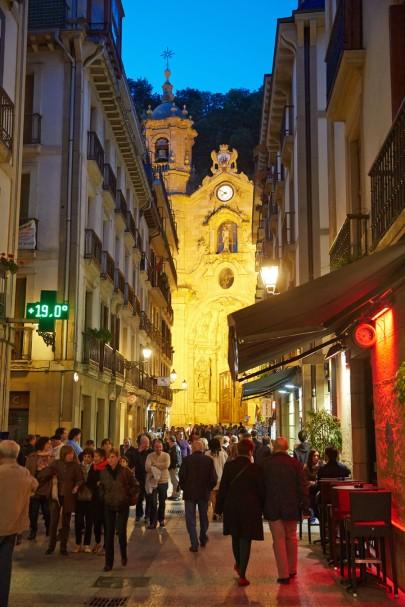 Santa Maria Basilica XVIII baroque. Parte vieja. Old town. Donostia. San Sebastian. Basque Country. Spain.