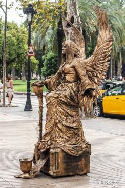 Ihmispatsas La Ramblalla, Barcelonassa